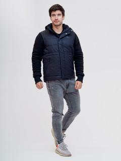 Купить оптом мужскую зимний куртку и безрукавку темно-серого цвета в интернет магазине MTFORCE 93334TC
