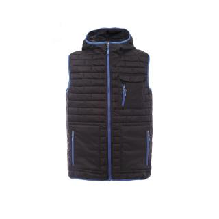 Купить оптом жилетка мужская стеганную утепленная черного цвета 93347Ch в интернет магазине MTFORCE.RU