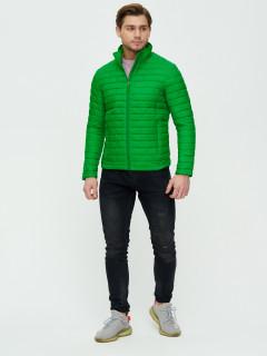 Купить оптом мужскую демисезонную стеганную куртку зеленого цвета в интернет магазине MTFORCE 93354Z