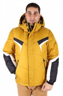 Купить оптом куртка зимняя мужская горчичного цвета 9440G в интернет магазине MTFORCE.RU