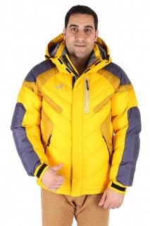 Купить оптом куртка зимняя мужская желтого цвета 9453J в интернет магазине MTFORCE.RU