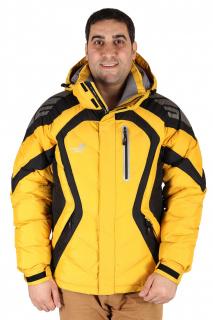 Купить оптом куртка зимняя мужская желтого цвета 9455J в интернет магазине MTFORCE.RU