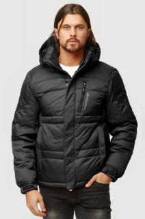 Купить оптом куртка зимняя мужская черного цвета 9521Ch  в интернет магазине MTFORCE.RU