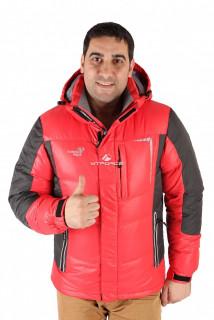 Купить оптом куртка пуховик мужская красного цвета 9573Kr в интернет магазине MTFORCE.RU