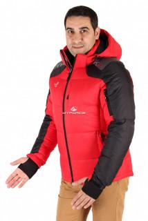 Купить оптом куртка пуховик мужская красного цвета 9636Kr  в интернет магазине MTFORCE.RU