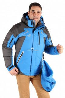 Купить оптом куртка пуховик мужская синего цвета 9683S в интернет магазине MTFORCE.RU