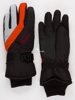 Горнолыжные перчатки мужские зимние оранжевого цвета купить оптом в интернет магазине MTFORCE 970O