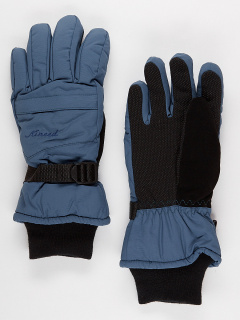 Горнолыжные перчатки женские зимние темно-серого цвета купить оптом в интернет магазине MTFORCE 971TC