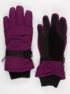 Горнолыжные перчатки женские зимние бордового цвета купить оптом в интернет магазине MTFORCE 971Bo