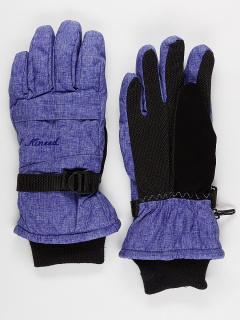 Горнолыжные перчатки женские зимние синего цвета купить оптом в интернет магазине MTFORCE 971S