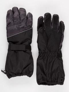 Горнолыжные перчатки подростковые для мальчика зимние темно-серого цвета купить оптом в интернет магазине MTFORCE 972TC