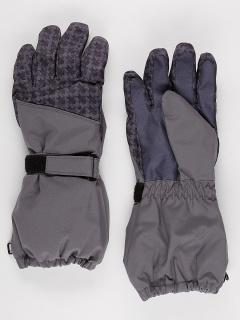 Горнолыжные перчатки подростковые для мальчика зимние серого цвета купить оптом в интернет магазине MTFORCE 972Sr