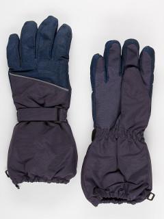 Горнолыжные перчатки подростковые для мальчика зимние темно-синего цвета купить оптом в интернет магазине MTFORCE 972TS