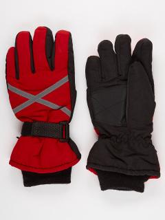 Горнолыжные перчатки мужские зимние красного цвета купить оптом в интернет магазине MTFORCE 973Kr