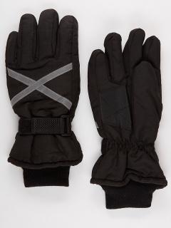 Горнолыжные перчатки мужские зимние черного цвета купить оптом в интернет магазине MTFORCE 973Ch