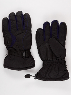 Горнолыжные перчатки мужские зимние темно-синего цвета купить оптом в интернет магазине MTFORCE 975TS