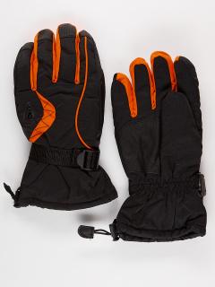 Горнолыжные перчатки мужские зимние оранжевого цвета купить оптом в интернет магазине MTFORCE 975O