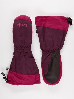 Рукавицы детские зимние бордового цвета купить оптом в интернет магазине MTFORCE 976Bo