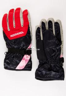 Купить оптом перчатки горнолыжные красного цвета 979Kr в интернет магазине MTFORCE.RU