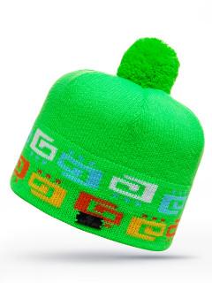 Купить оптом шапку зеленого цвета в интернет магазине MTFORCE 6028Z