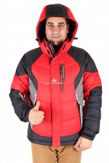 Купить оптом куртка пуховик мужская красного цвета 9855Kr в интернет магазине MTFORCE.RU