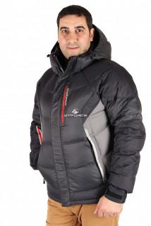 Купить оптом куртка пуховик мужская черного цвета 9855Ch  в интернет магазине MTFORCE.RU