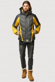 Купить оптом куртка зимняя мужская темно-серого цвета 9868TC  в интернет магазине MTFORCE.RU
