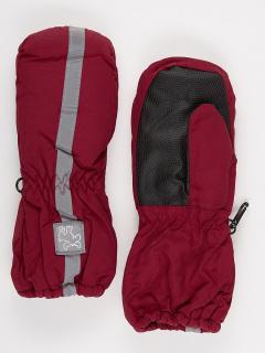Рукавицы детские зимние бордового цвета купить оптом в интернет магазине MTFORCE 987Bo