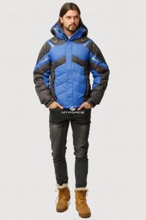 Купить оптом куртка зимняя мужская синего цвета 9898S  в интернет магазине MTFORCE.RU