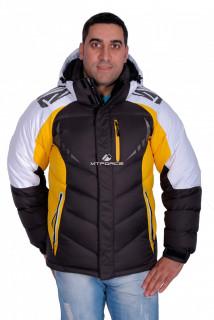 Купить оптом куртка зимняя мужская желтого цвета 9942J в интернет магазине MTFORCE.RU