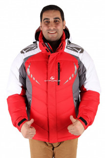 Купить оптом куртка зимняя мужская красного цвета 9942Kr в интернет магазине MTFORCE.RU