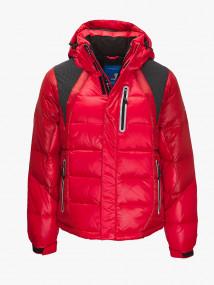 Купить оптом мужскую зимнюю спортивную куртку красного цвета в интернет магазине MTFORCE 9952Kr