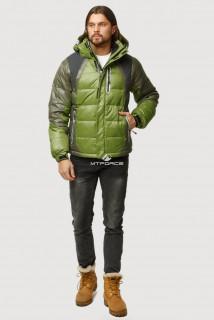 Купить оптом куртка зимняя мужская болотного цвета 9952Bt  в интернет магазине MTFORCE.RU