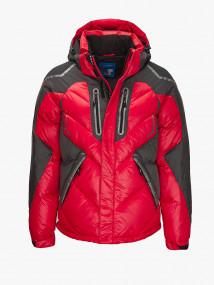 Купить оптом мужскую зимнюю спортивную куртку красного цвета в интернет магазине MTFORCE 9980Kr