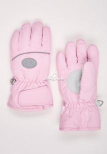 Купить оптом перчатки подростковые горнолыжные розового цвета CV-193R  в интернет магазине MTFORCE.RU