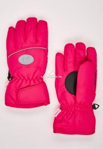Купить оптом перчатки подростковые горнолыжные малинового цвета CV-193M в интернет магазине MTFORCE.RU