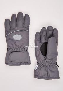 Купить оптом перчатки подростковые горнолыжные серого цвета CV-193Sr  в интернет магазине MTFORCE.RU