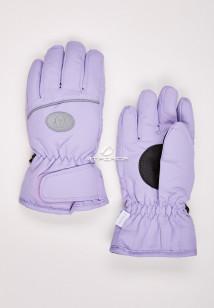 Купить оптом перчатки подростковые горнолыжные фиолетового цвета CV-193F в интернет магазине MTFORCE.RU