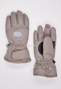 Купить оптом перчатки подростковые горнолыжные бежевого цвета CV-193B в интернет магазине MTFORCE.RU