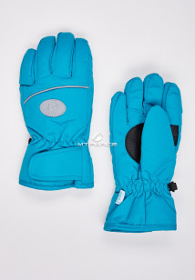 Купить оптом перчатки подростковые горнолыжные бирюзового цвета CV-193Br в интернет магазине MTFORCE.RU