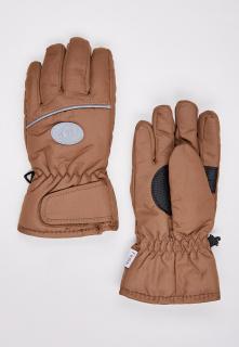 Купить оптом перчатки подростковые горнолыжные коричневого цвета CV-193K в интернет магазине MTFORCE.RU