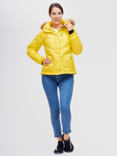 Купить оптом женскую зимний пуховик еврозима желтого цвета в интернет магазине MTFORCE 21107J