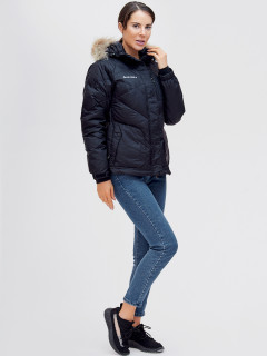 Купить оптом женскую зимний пуховик еврозима черного цвета в интернет магазине MTFORCE 21107Ch