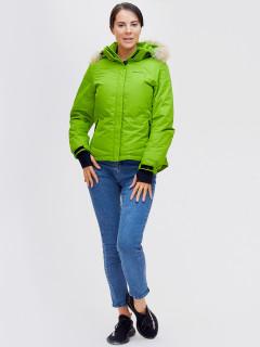 Купить оптом женскую зимний пуховик еврозима зеленого цвета в интернет магазине MTFORCE 2174Z