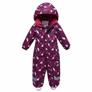Комбинезон детский зимний малинового цвета купить оптом в интернет магазине MTFORCE 8902M