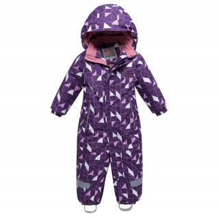 Комбинезон детский зимний фиолетового цвета купить оптом в интернет магазине MTFORCE 8902F