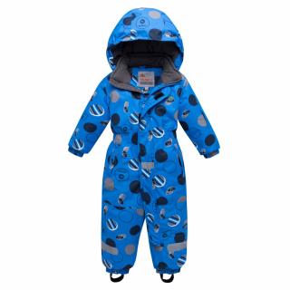 Комбинезон подростковый для мальчика зимний синего цвета купить оптом в интернет магазине MTFORCE 8905S