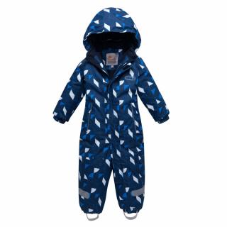 Комбинезон детский зимний темно-синего цвета купить оптом в интернет магазине MTFORCE 8901TS