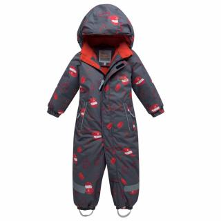 Комбинезон детский зимний темно-серого цвета купить оптом в интернет магазине MTFORCE 8903TС