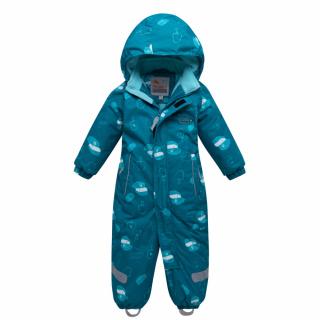 Комбинезон детский зимний бирюзового цвета купить оптом в интернет магазине MTFORCE 8904Br